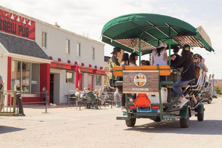 Cycle Pub on a tour through Traverse City